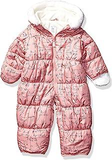 Carter's Baby Girls Pram Suit, Pink Cat Print, 6/9 Months