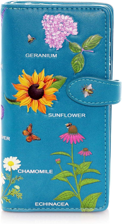 Save money Shagwear Outstanding Wildflowers Large Women's Zipper Wallet