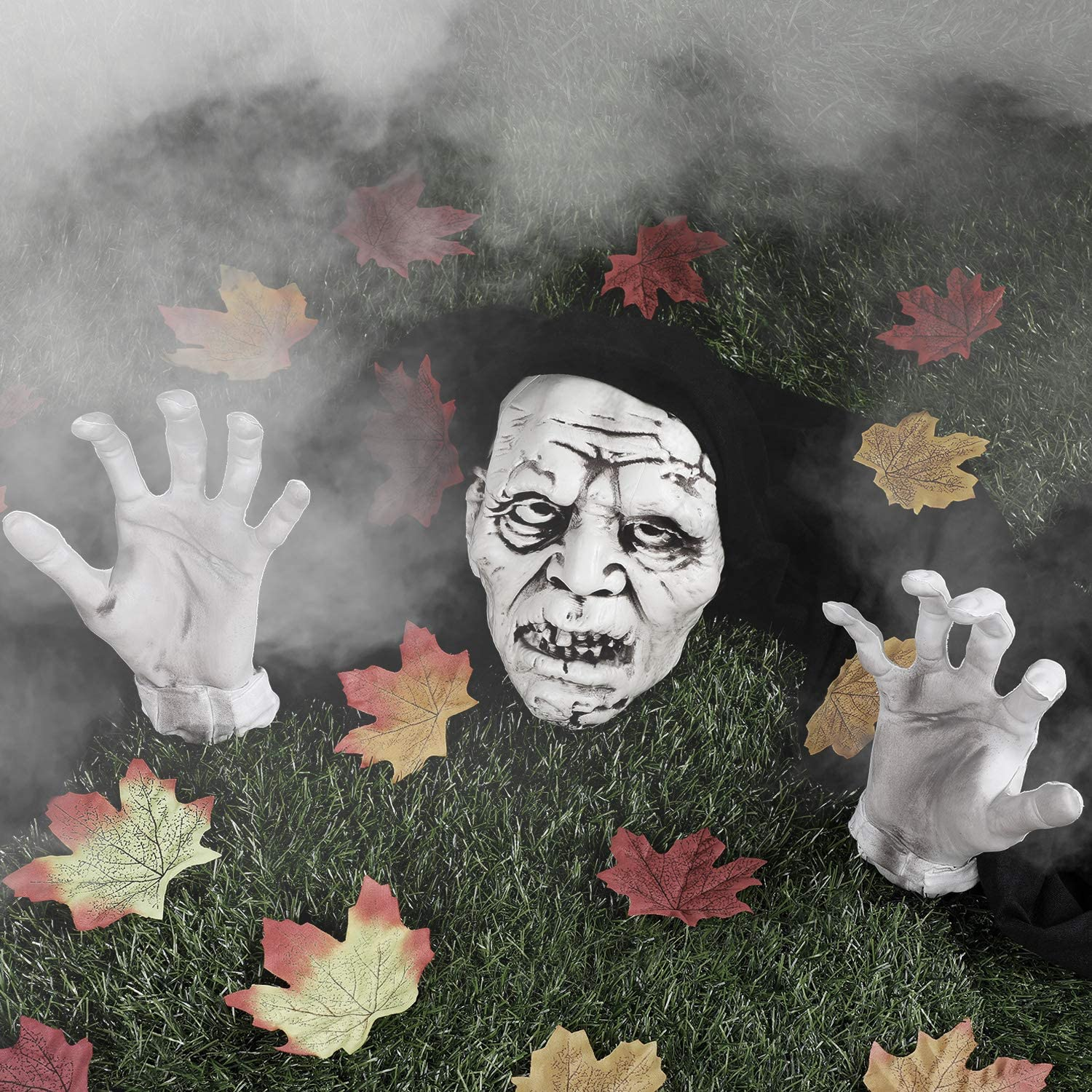 Baltimore Mall Skylety Halloween Decorations Zombie Face and Lawn G Max 83% OFF Stakes Arms