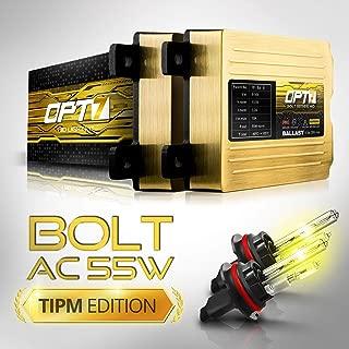 OPT7 Bolt AC 55w Hi-Power 9007 Hi-Lo HID Kit - All Bulb Sizes and Colors - TIPM Resistor Bundle - 2 Yr Warranty [3000K Fog Yellow Xenon Light]