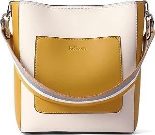 BROMEN Hobo Bags for Women Designer Handbags Vegan Leather Bucket Purse Shoulder Crossbody bag
