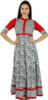Bimba Women Classy Anarkali Cotton Kurti Indian Ethnic Designer Clothing Kurta Blouse 3/4 Sleeve