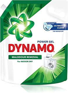 DYNAMO Power Gel Laundry Detergent Refill, Odor Removal For Indoor Dry, 3kg,