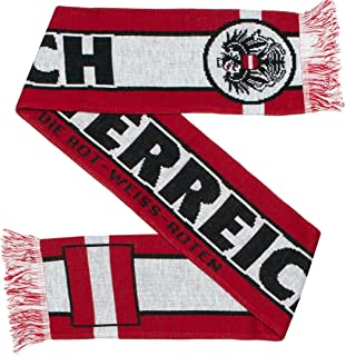Austria Osterreich Soccer Knit Scarf