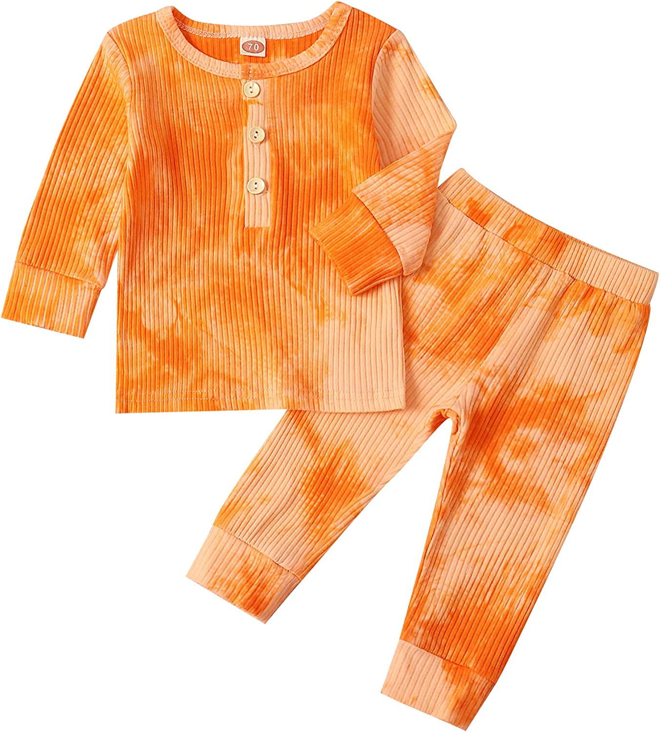 bilison Toddler Complete Free Shipping Baby Girl Crop Fresno Mall Sleeve Long Clothes Tie-dye Hoodi