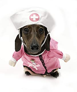 Midlee Fake Arms Nurse Small Dog Costume