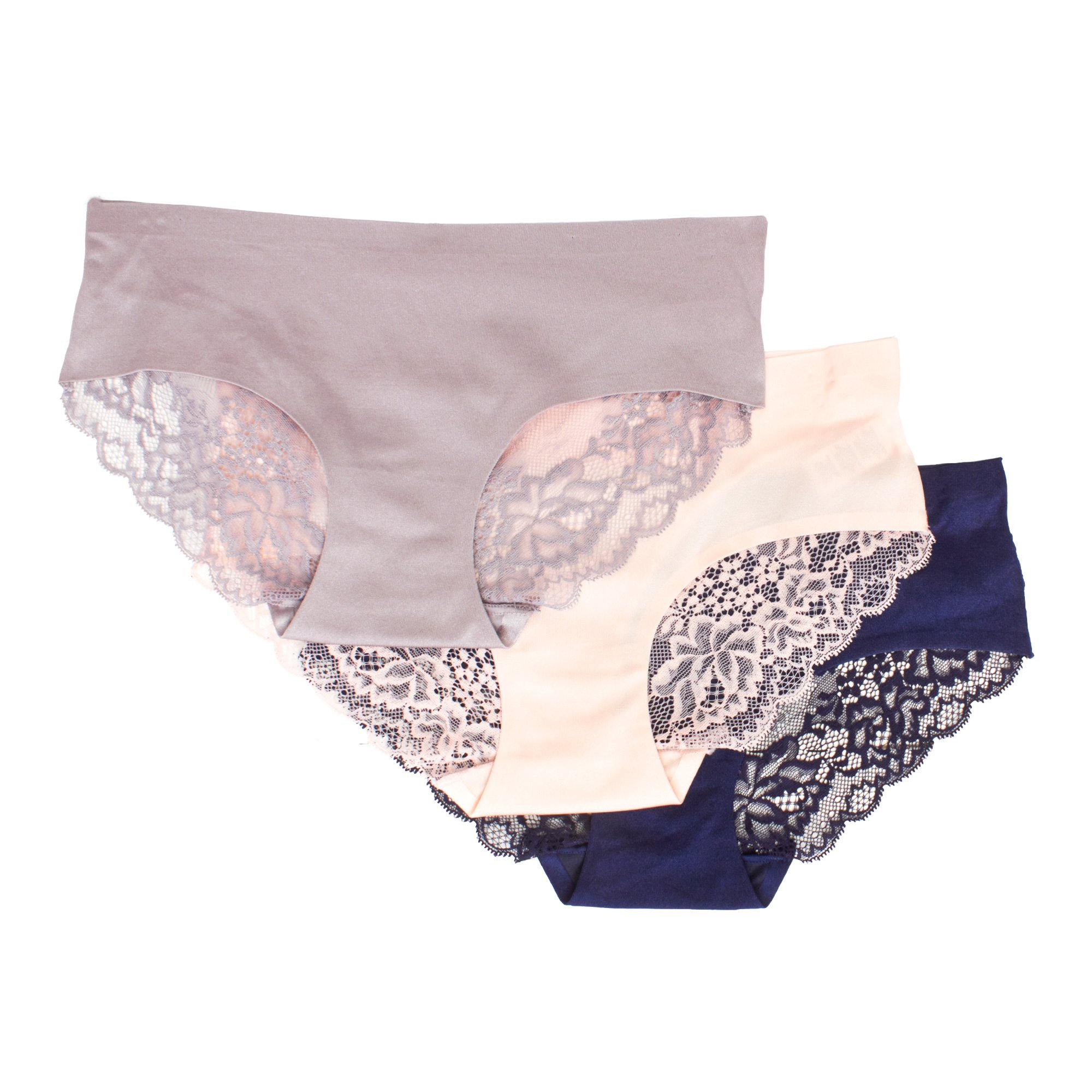 kathy ireland Womens Multi Pack Elastic Waist Boyshort Body Shape Panties