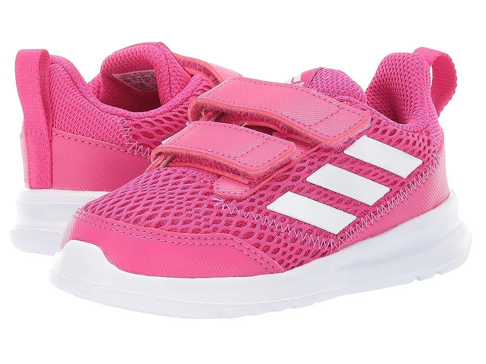 adidas Kids AltaRun CF (Toddler) (Real Magenta/Footwear White/Real Magenta) Girls Shoes