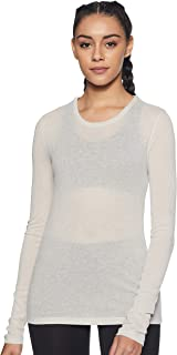 Reebok Women's Sr Rib Long Sleeve T-Shirt, Stucco