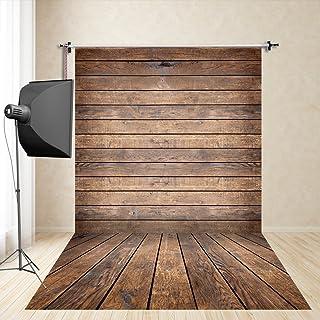 FiVan™-Sp 150x250cm photography marrón fondo de madera oscura apoyos de vestir de los niños photography estudio de fotografía de tela de seda de imitación FD-4926