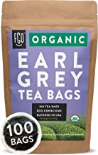 Organic Earl Grey Black Tea Bags   100 Tea Bags   Chinese Keemun, Indian Assam & Italian Bergamot Blend   Eco-Conscious Tea Bags in Foil Lined Kraft Pouch   by FGO