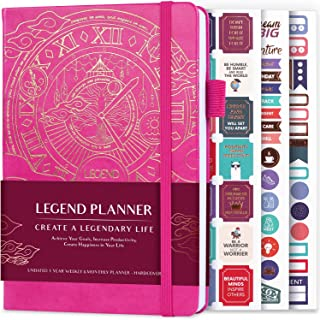 Legend Planner - Deluxe Weekly & Monthly Life Planner to Hit Your Goals & Live Happier. Organizer Notebook & Productivity ... photo