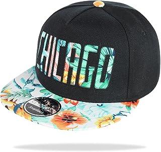 Glamexx24 Gorra de sombrilla de mujer Unisex Basecap Gorra de béisbol NY Chicago Peace Gorra de hombre