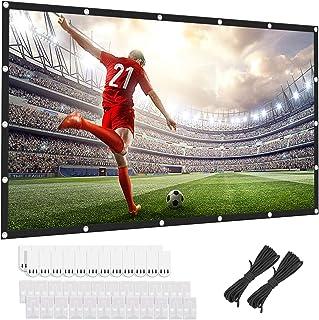 120 inch projectorscherm 16:9 HD Achter- en Frontale Filmscherm Opvouwbare Anti-Crease Draagbare Projector Filmscherm voor...