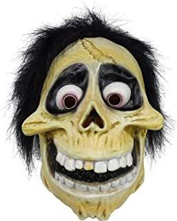 Hector Rivera Miguel Mask, Skull Latex Helmet Full Head Hector Mask For Men Boys Halloween Costume Accessory