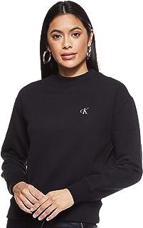 سترة نسائية قصيرة برقبة مستديرة مطرزة من Calvin Klein