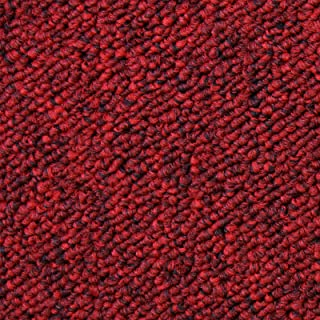 Losetas de Moqueta Pack de 20 5m2 Parches para Moqueta Hogar Oficina Color Rojo Escarlata