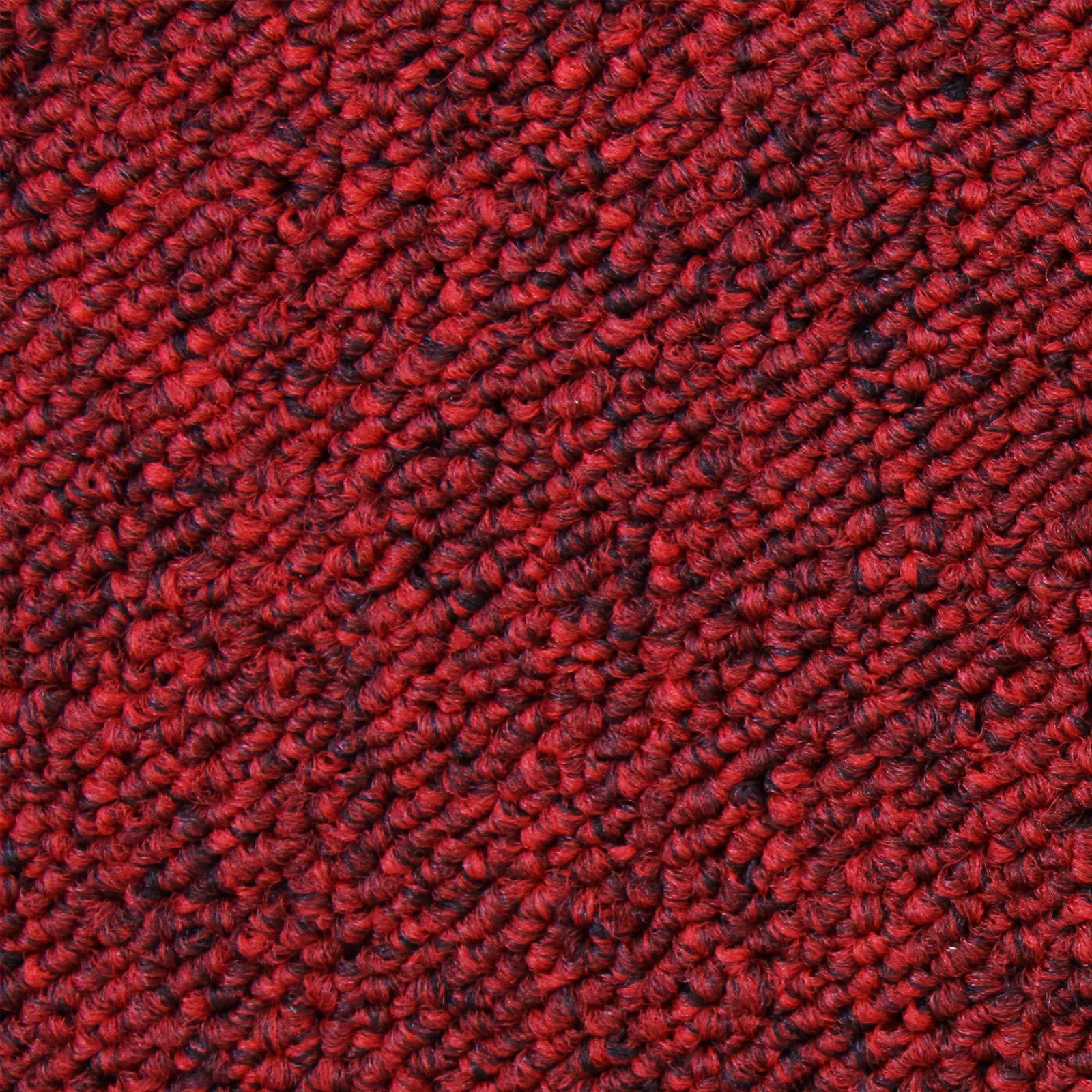 Losetas de Moqueta Pack de 20 5m2 Parches para Moqueta Hogar Oficina Color Rojo Escarlata: Amazon.es: Hogar