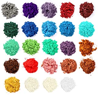 Mica Powder, Lip Gloss Pigment Powder 24 Colors, Handmade Soap Making Colorants, for Epoxy Resin Dye, Candle Making, Eye S...