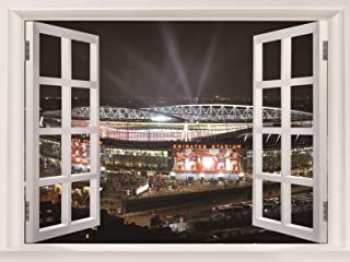 Emirates Stadium Arsenal FC Football Sport Art Huge Beautifully Gifts Stickers Fake Windows Decor Posters