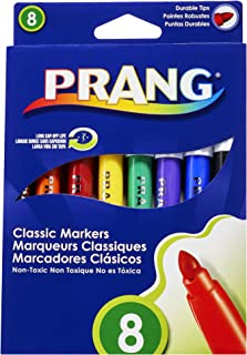 Prang Classic Art Markers, Bullet Tip, Assorted Colors, 8 Count (80128)