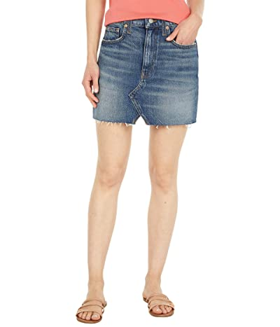 Lucky Brand High-Rise Cutoffs Skirt in Mariner