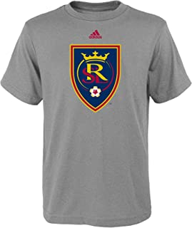 MLS by Outerstuff Primary Logo Short Sleeve Tee, Heather Grey, Youth Boys Large(14-16)