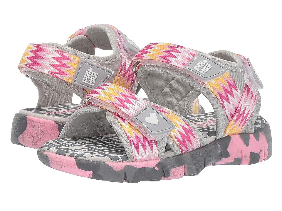 Primigi Kids PAP 34494 (Toddler/Little Kid) (Grey/Pink) Girls Shoes