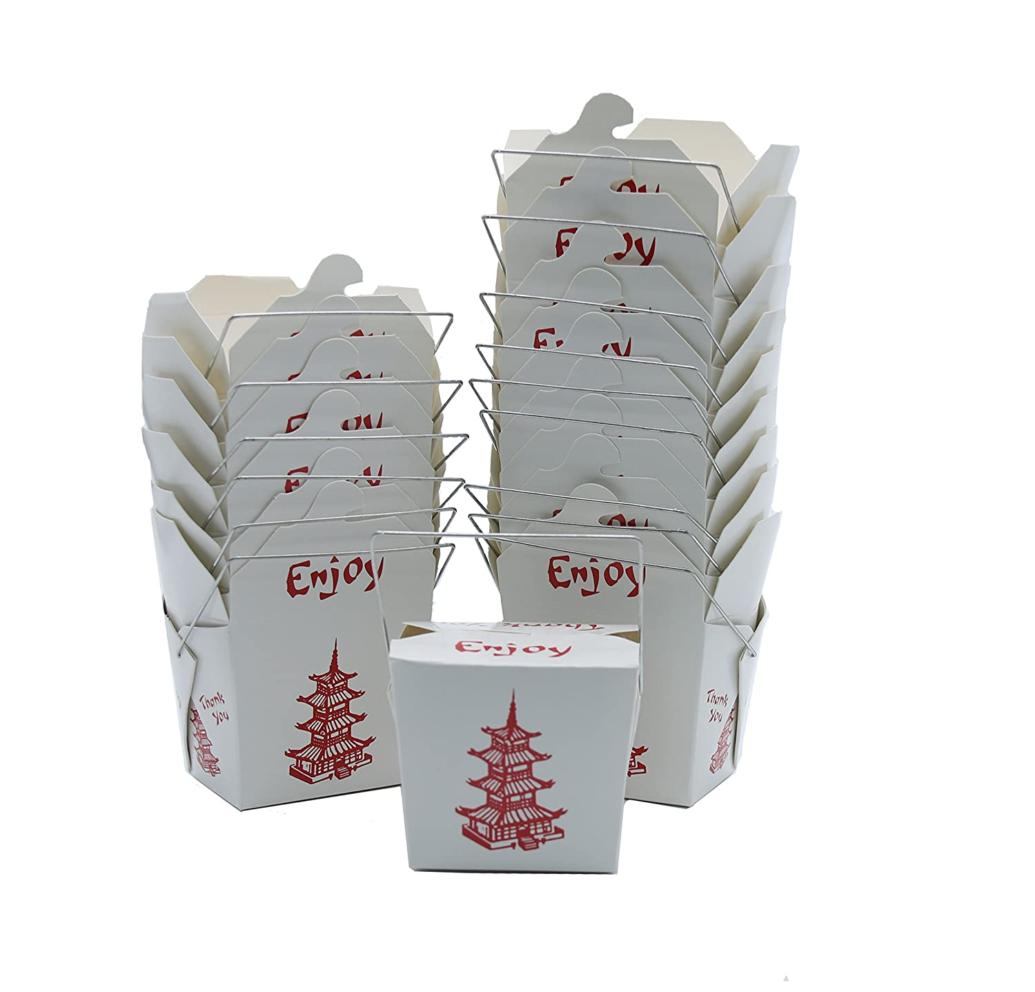 50 Pack Chinese take Out Box 8-OZ Bio Noodle Take Out Food Conta