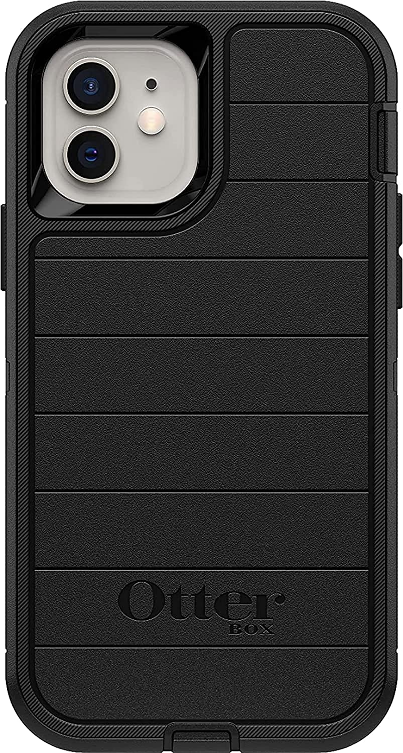 OtterBox Defender Series SCREENLESS Edition Case SCREENLESS Edition for iPhone 12 Mini - Case Only - Non-Retail Packaging - Black - with Microbial Defense (Black)
