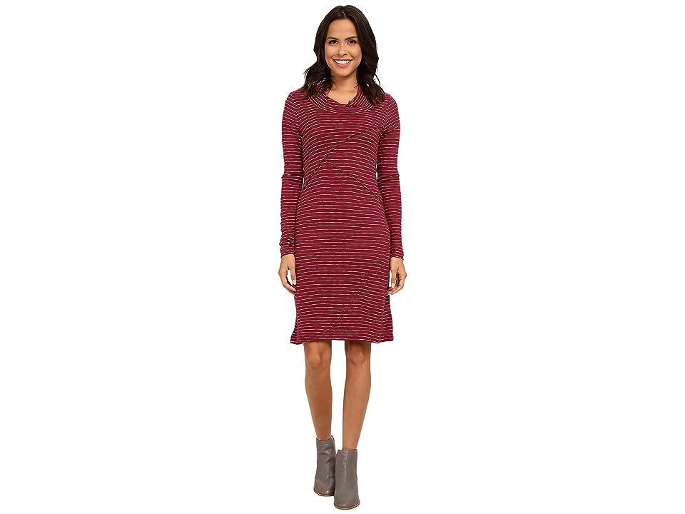 Mod-o-doc Twisted Collar Seamed Dress (Vino) Women