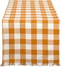 DII CAMZ37588 Heavyweight Fringed TR Check 14X108, 14 x 108, Checkered Pumpkin Spice
