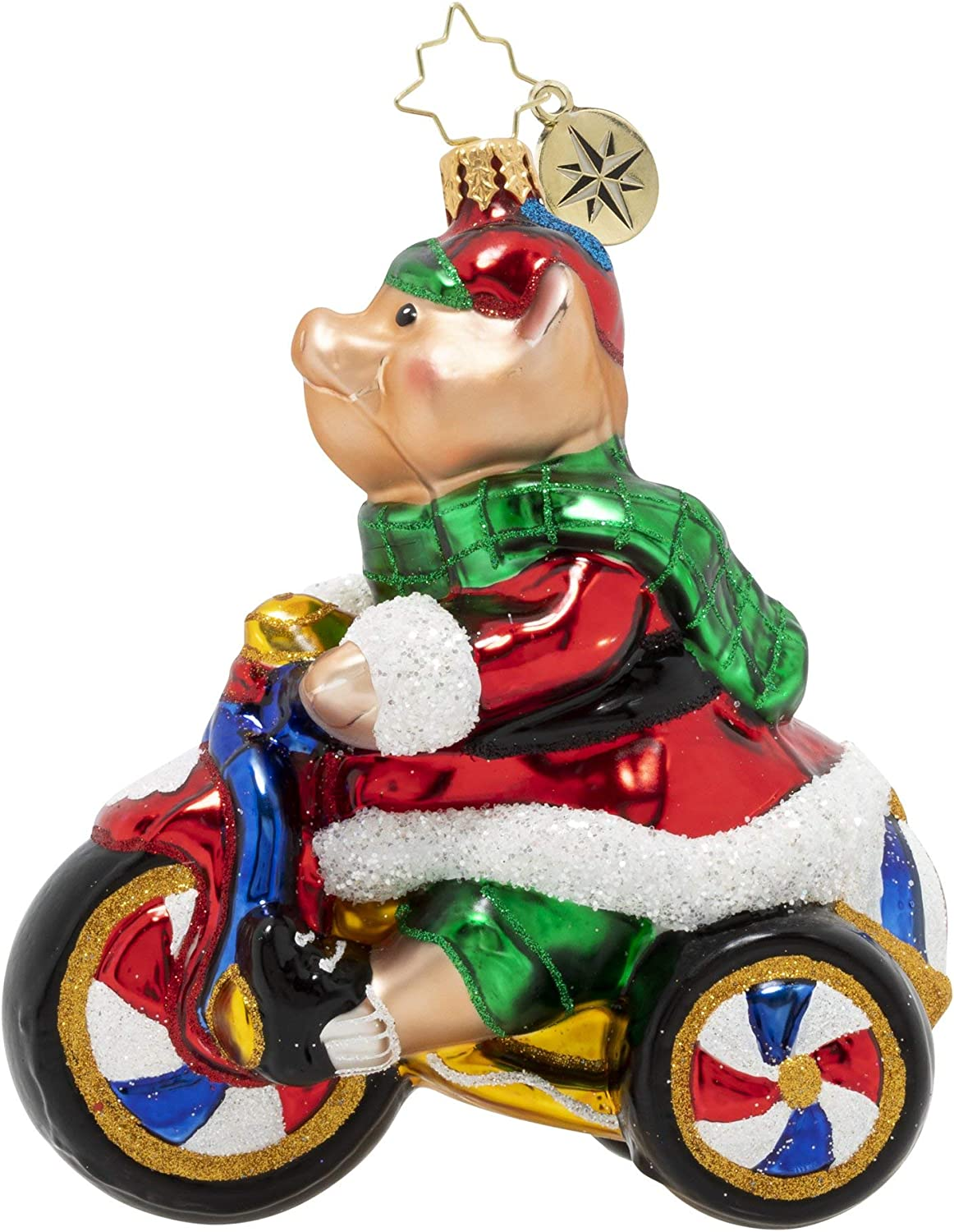Christopher Radko Hand-Crafted European Glass Christmas Decorative Figural Ornament Dreaming of Santa!
