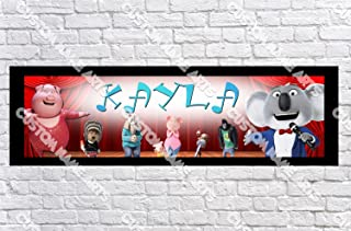 Personalized Sing Movie 2016 Banner - Includes Color Border Mat, With Your Name On It, Party Door Poster, Room Art Decoration - Customize