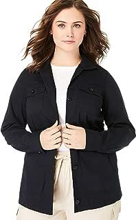 Women's Plus Size Sport Twill Utility Jacket