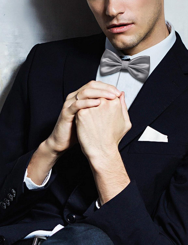 JEMYGINS Solid Color Pre-tied Bow Ties for Men