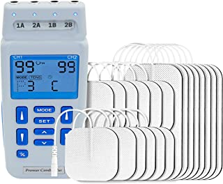 comprar comparacion Med-Fit recargable de doble control TENS de 4 canales y estimulador muscular 24 programas clínicamente aprobados y ajuste ...