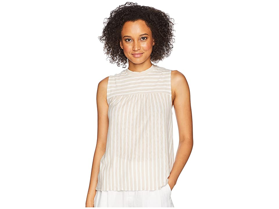 Three Dots Saguaro Stripe Tank Top (Sailcloth) Women