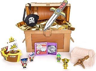 RYAN'S WORLD Cap'n Ryan's Micro Mystery Treasure Chest, All-New Surprises, Micro Figures, Micro Pirate Ship, Putty, Micro ...
