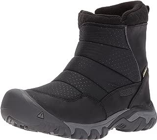 KEEN Utility Women's Hoodoo iii Low Zip-w Snow Boot, Black/Magnet, 8.5 M US
