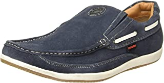 Red Chief Men's Blue Leather Casual Shoes (RC3504 002)