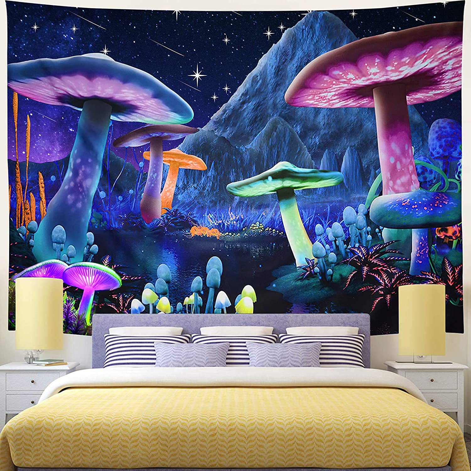 Wekoxo Psychedelic Mushroom Manufacturer direct delivery Tapestry Sky Trippy Starry OFFer