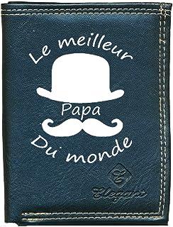 Pochette Etui Petit Portefeuille Homme, Porte Monnaie, Cartes, papiers Papa Fete des Peres