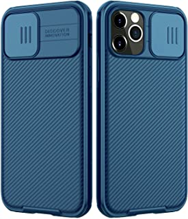 Nillkin Compatible with iPhone 12/12 Pro Case, Upgrate CamShield Case with Slide Camera Cover, Slim Protective Case, Blue