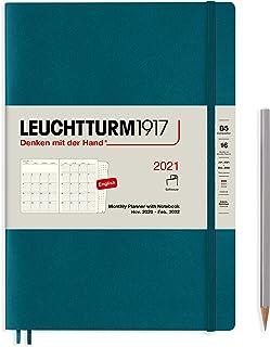 ロイヒトトゥルム 手帳 2021年 B5 マンスリー ソフト パシフィックグリーン 362128 (2020年 11月始まり)