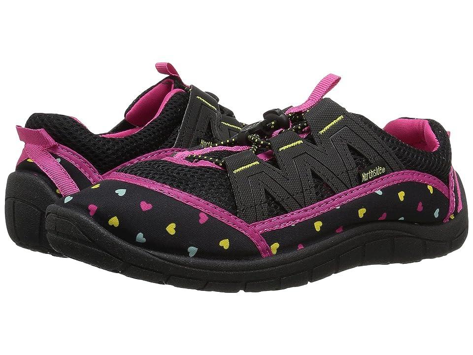Northside Kids Brill II (Little Kid/Big Kid) (Black/Fuchsia) Girls Shoes