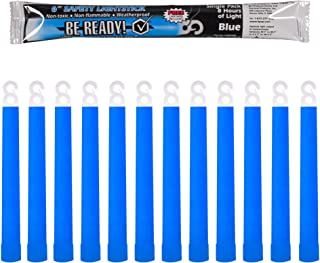 Be Ready Blue Glow Sticks - Industrial Grade 8+ Hours Illumination Emergency Safety Chemical Light Glow Sticks