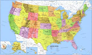 24x36 United States, Usa, Us Premier Wall Map Paper Folded, New, .