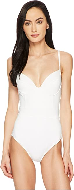 Solids Underwire Lingerie One-Piece w/ Adjustable Straps