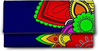 ShopMantra Blue Floral Abstract Multicolor Ladies Wallet LW00000241